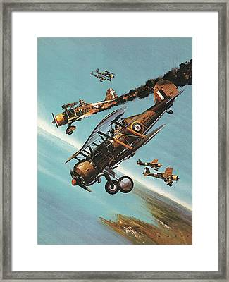The Gloster Gladiator  Squadron Leader Pattle Framed Print by Wilf Hardy