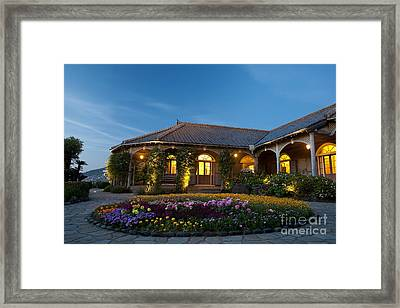 Framed Print featuring the photograph The Glover Residence by Aiolos Greek Collections