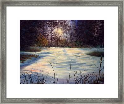 The Glow Of Winter Framed Print by Tommy  Winn