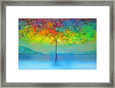 The Glow Tree Framed Print by Tara Turner