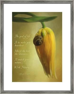 The Goal Of Life - Flower Art Framed Print by Jordan Blackstone