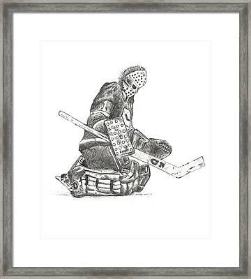 The Goaltender Framed Print by Shaun Groenesteyn