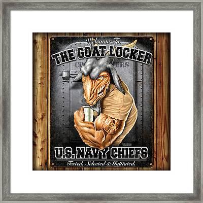 The Goat Locker Framed Print