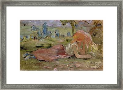 The Goatherd Framed Print by Berthe Morisot