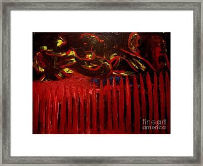 The Goblins Outside Framed Print by Karen L Christophersen