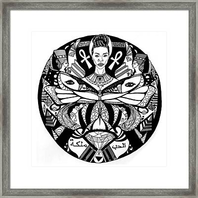 The Goddess And The Butterfly Framed Print by Kenal Louis