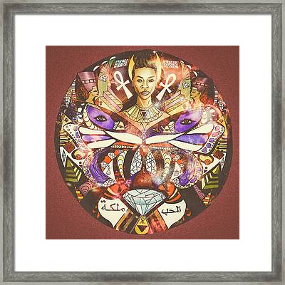 The Goddess And The Purple Butterfly  Framed Print by Kenal Louis