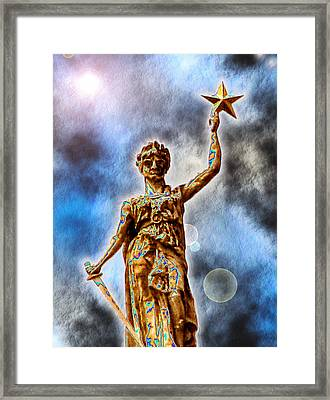The Goddess Of Liberty - Texas State Capitol Framed Print