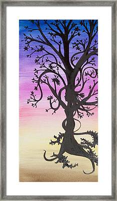 The Goddess Tree Framed Print by Amy Lauren Gettys