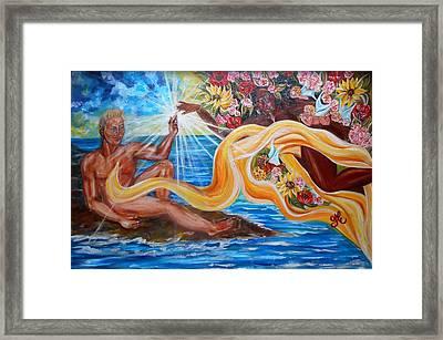 The Goddess Framed Print