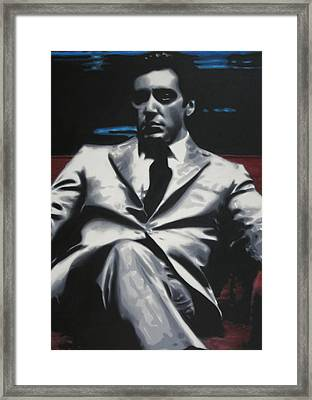 The Godfather 2013 Framed Print by Luis Ludzska
