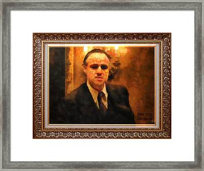 The Godfather Framed Print by Mario Carini