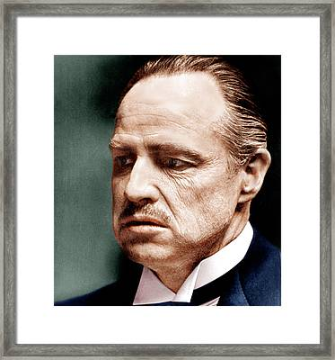 The Godfather, Marlon Brando, 1972 Framed Print by Everett