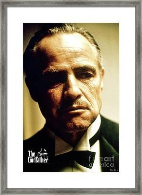 Marlon Brando As Mario Puzo's, Don Vito Corleone, The Godfather Framed Print by Thomas Pollart