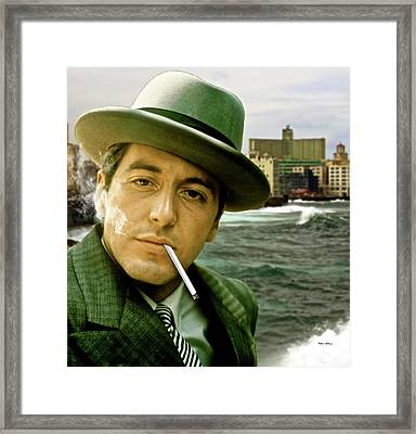 The Godfather, Michael Corleone, Al Pacino, Avenida De Maceo, Havana, Cuba Framed Print
