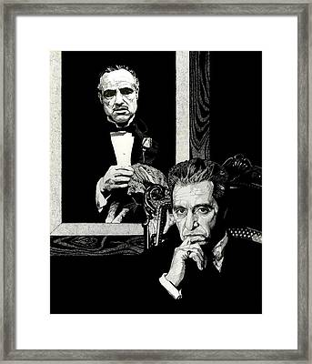 The Godfather Framed Print by Mitchell Masullo