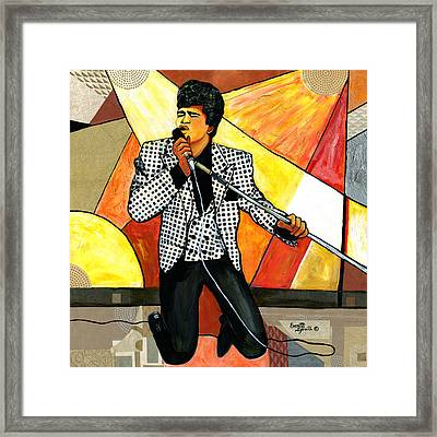 The Godfather Of Soul James Brown Framed Print by Everett Spruill