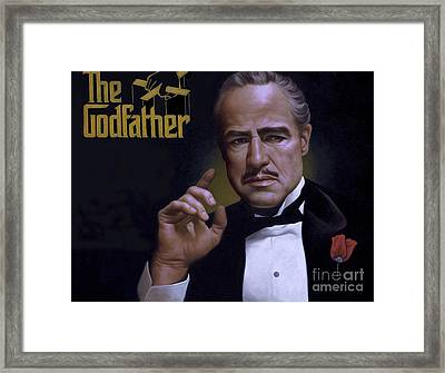 The Godfather Framed Print by Ray Evans