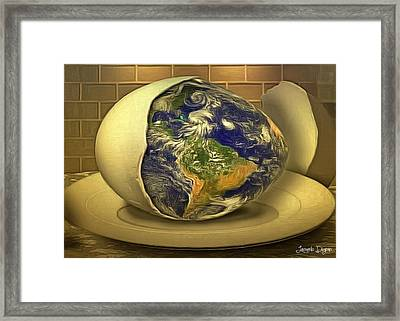 The God's Egg Framed Print