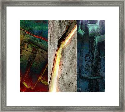 Framed Print featuring the digital art The Gods Triptych 2 by Ken Walker
