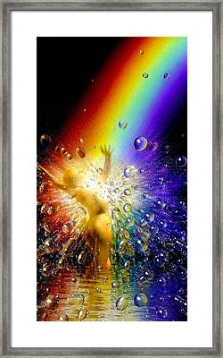 The Gold At The End Of The Rainbow Framed Print by Robby Donaghey