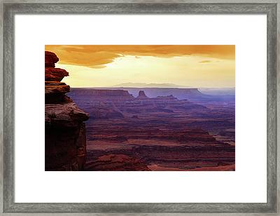 The Gold Light Of Dawn Framed Print