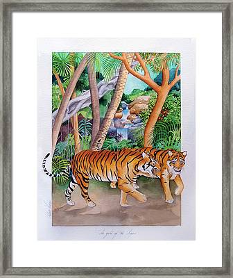 The Gold Of The Tigers Framed Print by Robert Lacy