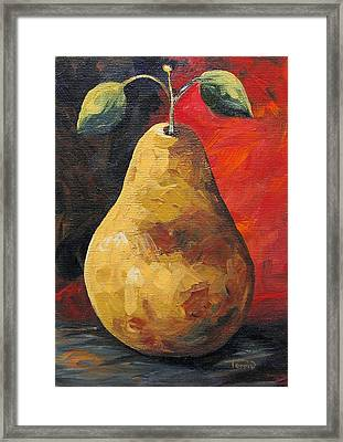 The Gold Pear II  Framed Print by Torrie Smiley