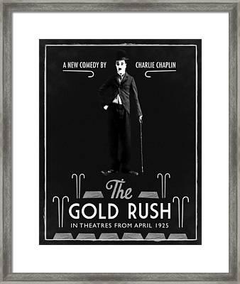 The Gold Rush Charlie Chaplin 1925 Black Framed Print