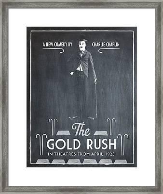 The Gold Rush Charlie Chaplin 1925 Chalk Framed Print