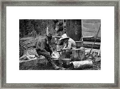 The Gold Rush, Miners With Gold Framed Print