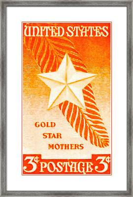 The Gold Star Mothers Stamp Framed Print by Lanjee Chee