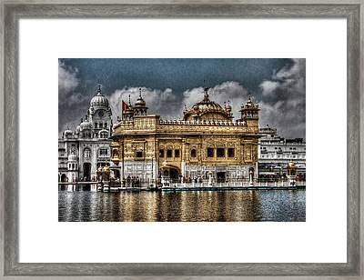 The Gold Temple Framed Print by Contemporary Art