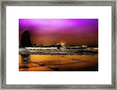 The Golden Beach Framed Print by David Patterson