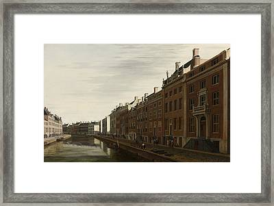 The Golden Bend In The Herengracht, Amsterdam, Seen From The West, 1672 Framed Print
