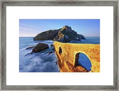 The Golden Bridge Framed Print