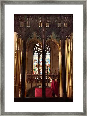 The Golden Chalice Framed Print