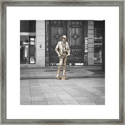 Framed Print featuring the photograph The Golden Cowboy by Stwayne Keubrick