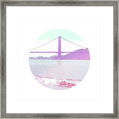 The Golden Gate- Art By Linda Woods Framed Print by Linda Woods