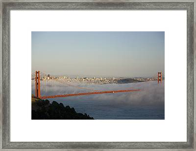The Golden Gate Bridge From Marin Framed Print by Richard Nowitz
