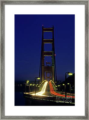 The Golden Gate Bridge Twilight Framed Print