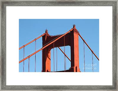 The Golden Gate Bridge Up Close . San Francisco California . 7d14537 Framed Print by Wingsdomain Art and Photography