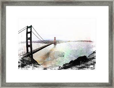 The Golden Gate From The Marin Headlands Framed Print