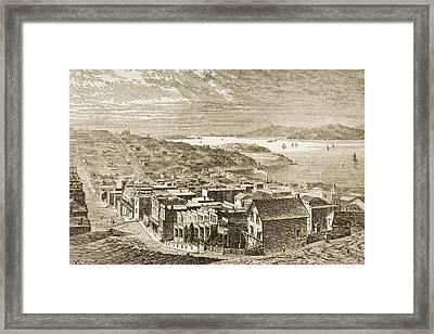 The Golden Gate San Francisco Framed Print by Vintage Design Pics