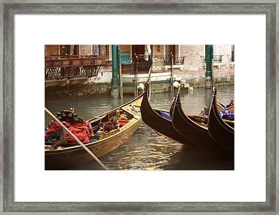 The Golden Gondola Framed Print by Michael Henderson