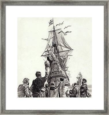 The Golden Hind  Framed Print