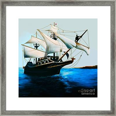 The Golden Hind Framed Print by Corey Ford