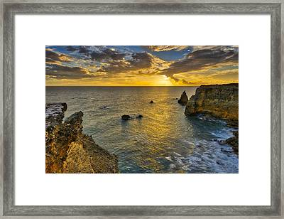 Framed Print featuring the photograph The Golden Hour - Cabo Rojo - Puerto Rico by Photography By Sai