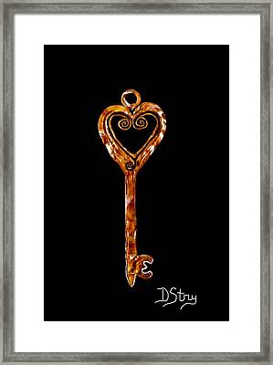 The Golden Key Framed Print