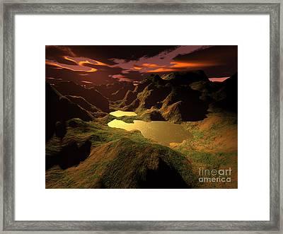 The Golden Lake Framed Print by Gaspar Avila